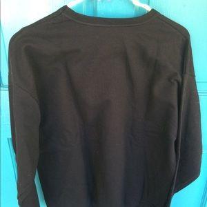 NWT Hanes Men's crew black sweatshirt various size